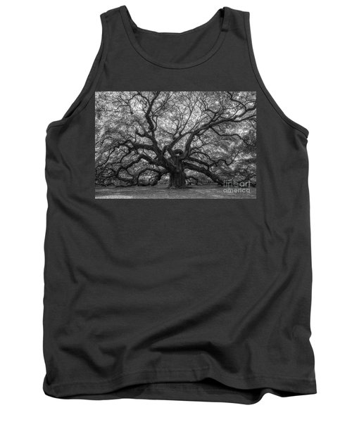 The Angel Oak Tree Bw  Tank Top