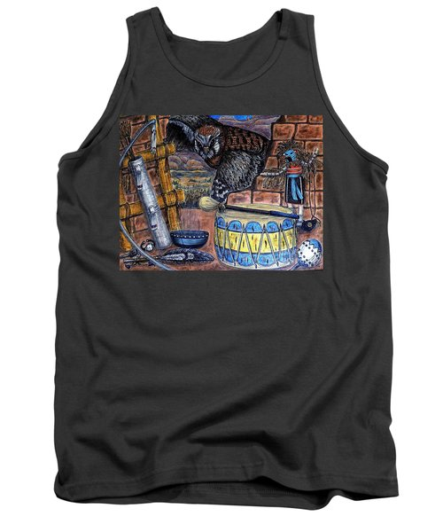 The Answer Comes Tank Top by Kim Jones