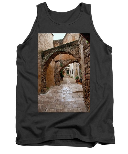 The Archways Of Villecroz Tank Top by Jacqi Elmslie