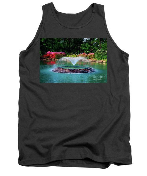 The Azalea Pond At Honor Heights Park Tank Top