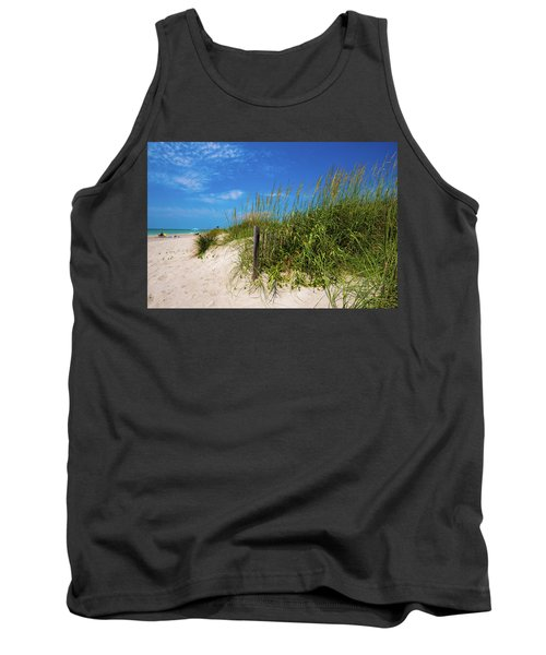 Tank Top featuring the photograph The Beach At Pine Knoll Shores by John Harding