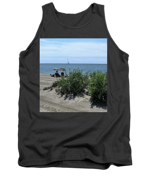 Tank Top featuring the photograph The Beach by John Scates