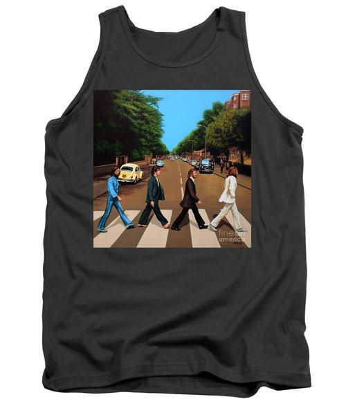 The Beatles Abbey Road Tank Top by Paul Meijering