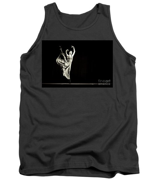 Tank Top featuring the photograph The Beautiful Ballerina Dancing In Long Dress by Dimitar Hristov