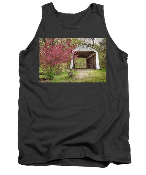 The Beeson Covered Bridge Tank Top by Harold Rau