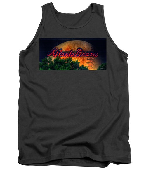 The Big Ball Atlanta Braves Baseball Signage Art Tank Top