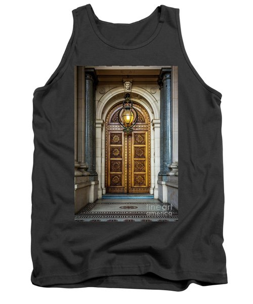 Tank Top featuring the photograph The Big Doors by Perry Webster