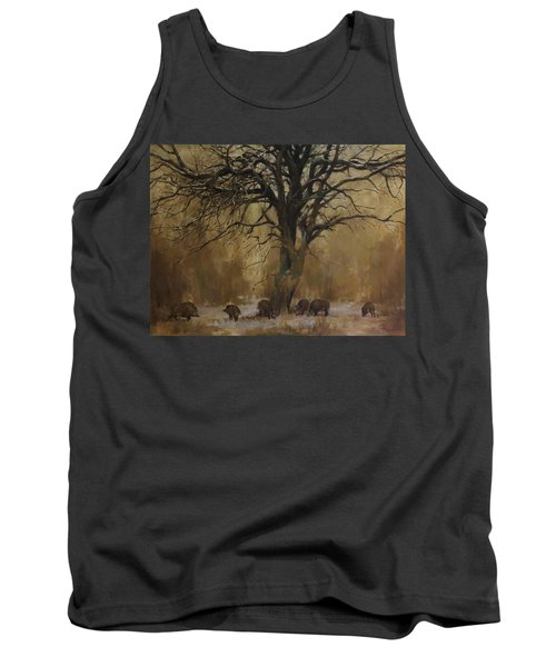 The Big Tree With Wild Boars Tank Top