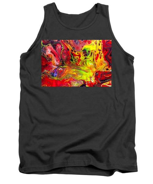 The Birth Of Diamonds - Abstract Colorful Mixed Media Painting Tank Top