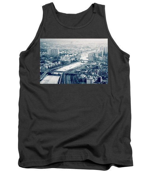 The Bisection Of Saigon Tank Top by Joseph Westrupp