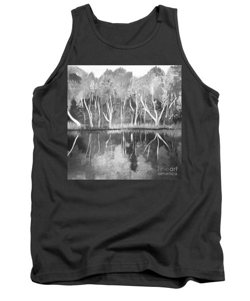 The Black And White Autumn Tank Top by Art Ina Pavelescu