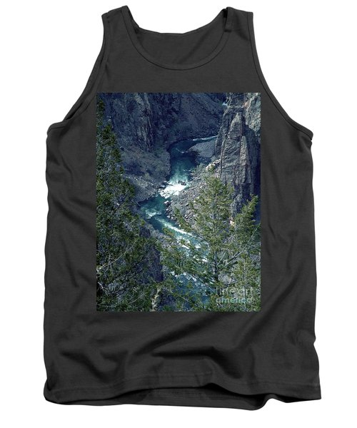 Tank Top featuring the painting The Black Canyon Of The Gunnison by RC DeWinter