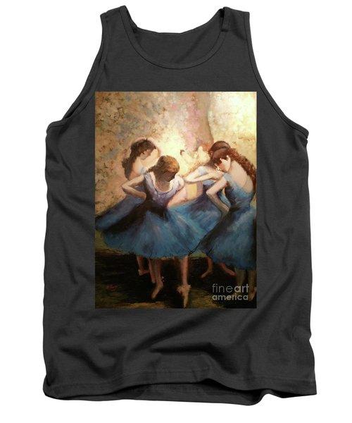 The Blue Ballerinas - A Edgar Degas Artwork Adaptation Tank Top