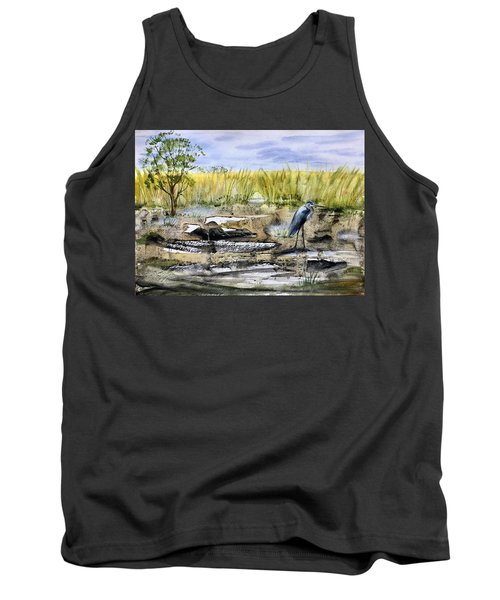 The Blue Egret Tank Top