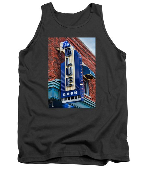 The Blue Room Sign Tank Top by Steven Bateson