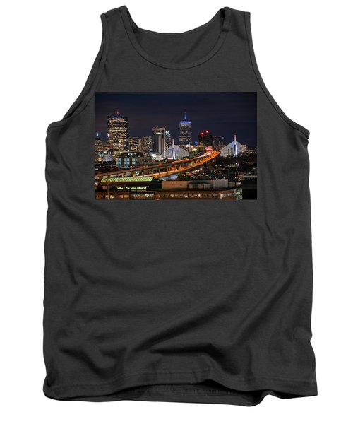 The Boston Skyline Boston Ma Full Zakim Tank Top