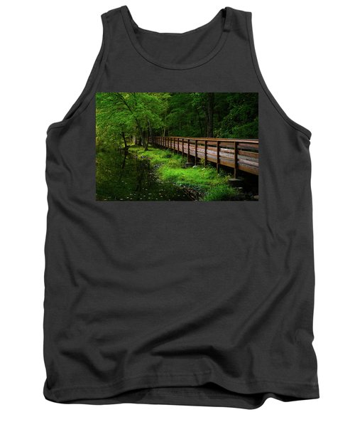 Tank Top featuring the photograph The Bridge At Wolfe Park by Karol Livote