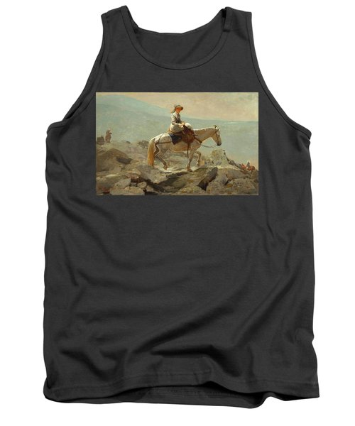 Tank Top featuring the painting The Bridle Path, White Mountains - 1868 by Winslow Homer