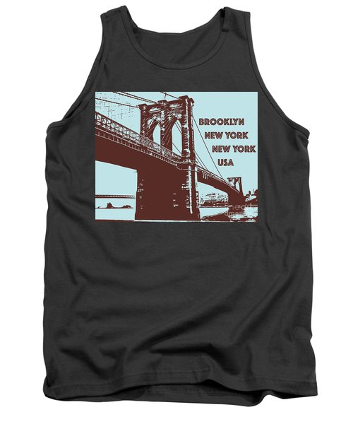 The Brooklyn Bridge, New York, Ny Tank Top