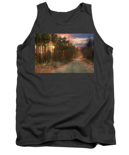 Tank Top featuring the photograph The Brown Path Before Me by Lori Deiter