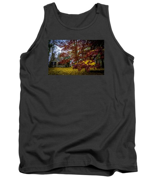 The Cabin In Autumn Tank Top