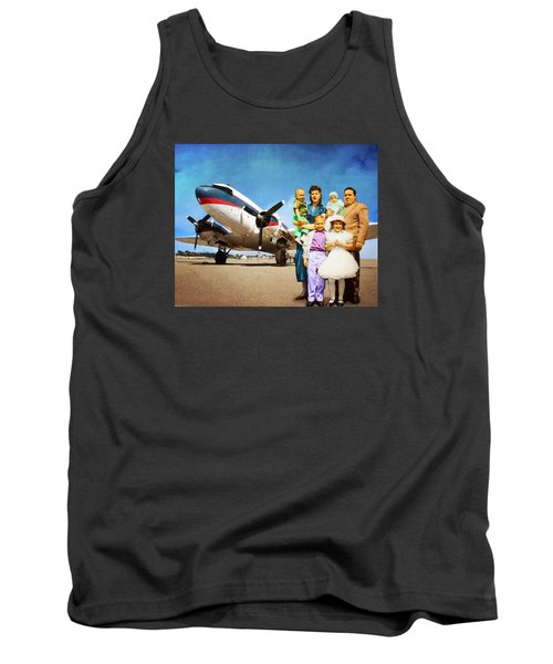 The California Family Tank Top by Timothy Bulone