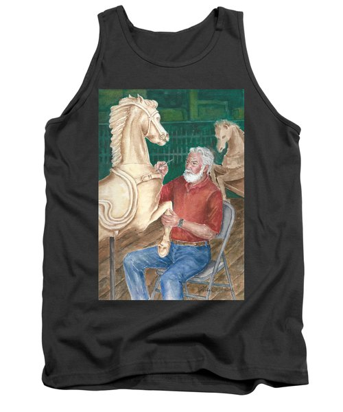 The Carver And His Horse Tank Top