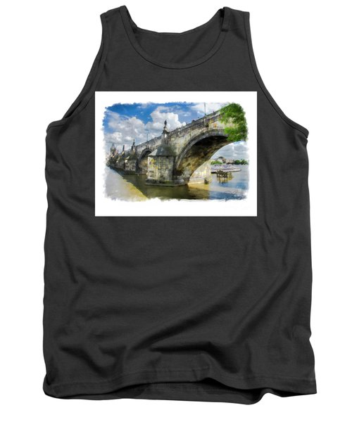 The Charles Bridge - Prague Tank Top by Tom Cameron