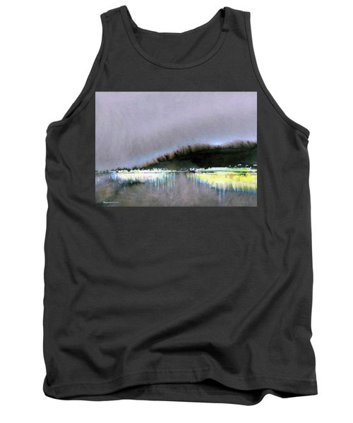 Tank Top featuring the painting The City Lights by Ed Heaton