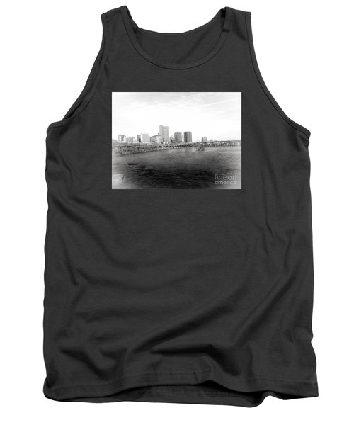 The City Of Richmond Black And White Tank Top by Melissa Messick