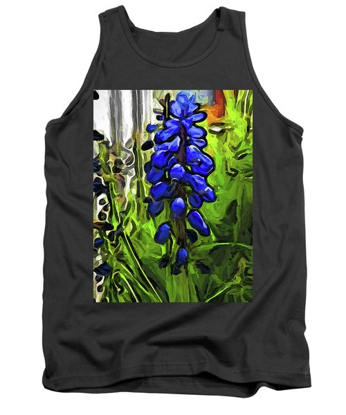 The Cobalt Blue Flowers And The Long Green Grass Tank Top