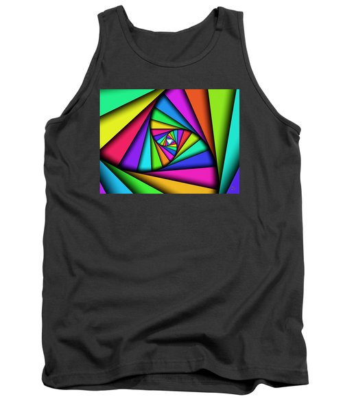 Tank Top featuring the digital art The Core by Manny Lorenzo