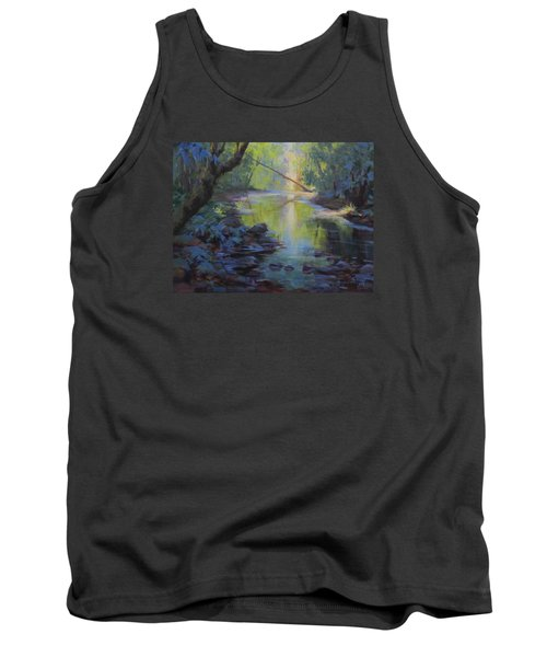 Tank Top featuring the painting The Creek by Karen Ilari
