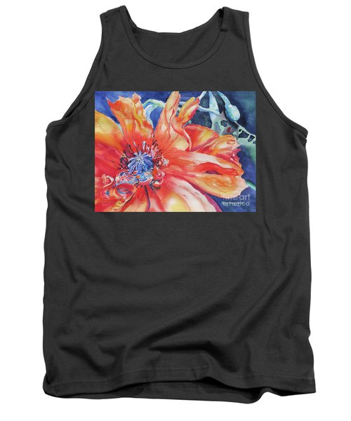 Tank Top featuring the painting The Dance by Mary Haley-Rocks