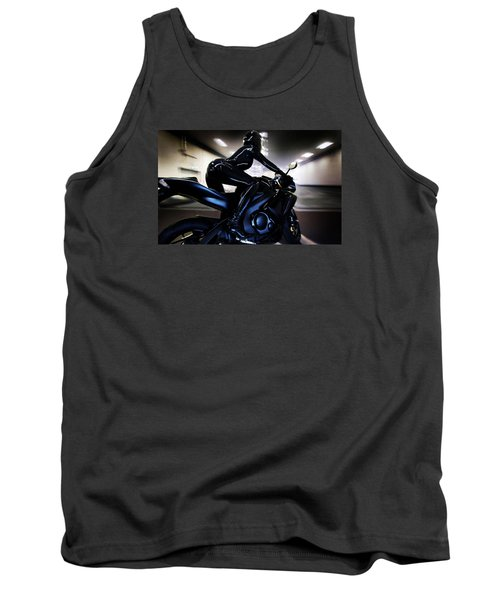 Tank Top featuring the photograph The Dark Knight by Lawrence Christopher
