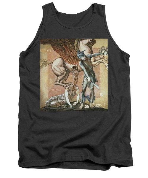 The Death Of Medusa I Tank Top by Edward Coley Burne-Jones
