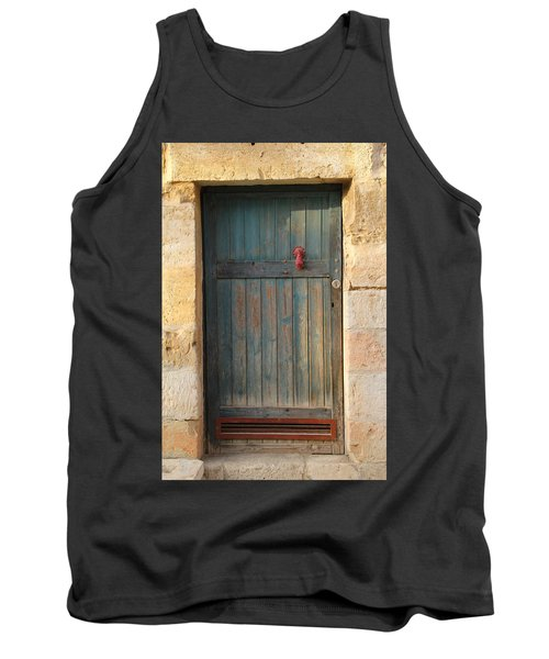 Tank Top featuring the photograph The Door And The Hand by Yoel Koskas