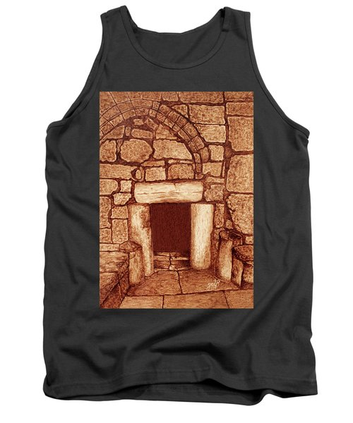 Tank Top featuring the painting The Door Of Humility At The Church Of The Nativity Bethlehem by Georgeta Blanaru