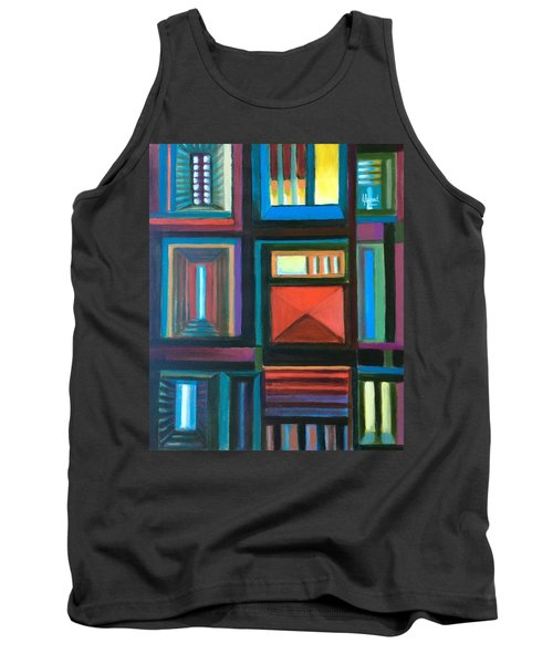 Tank Top featuring the painting The Doors Of Hope  by Laila Awad Jamaleldin