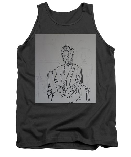 The Dowager Countess In Her Drawing Room At Dowton Abbey Tank Top