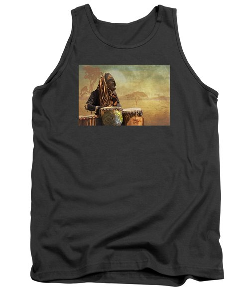 The Dream Of His Drums Tank Top