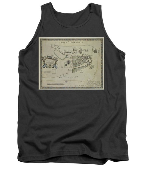 The Dukes Plan A Description Of The Town Of Mannados Or New Amsterdam 1664 Tank Top by Duncan Pearson