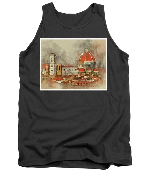 The Duomo Florence Tank Top by Brian Tarr