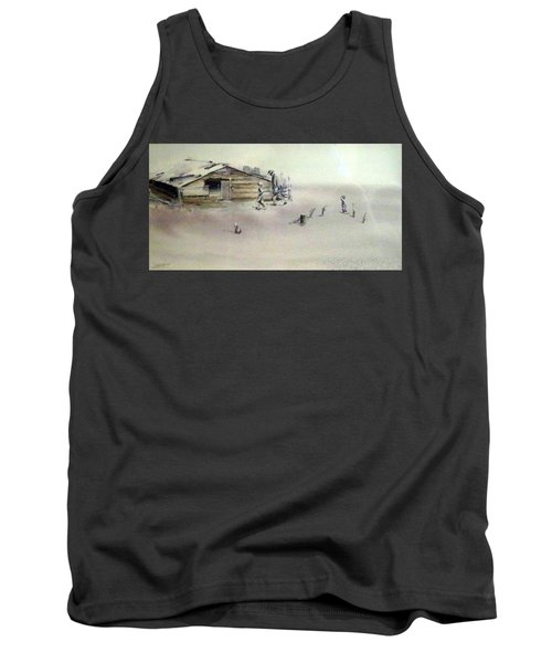 Tank Top featuring the painting The Dustbowl by Ed Heaton