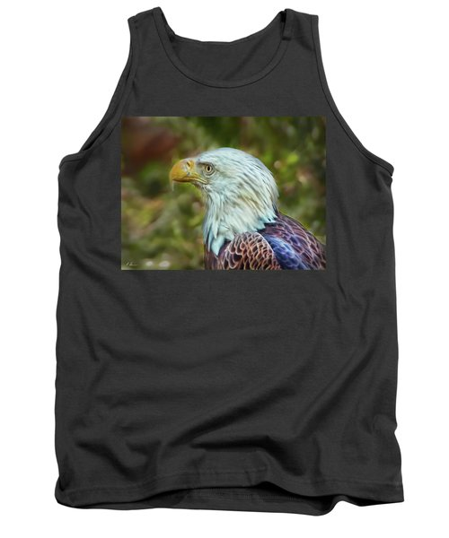 Tank Top featuring the photograph The Eagle Look by Hanny Heim