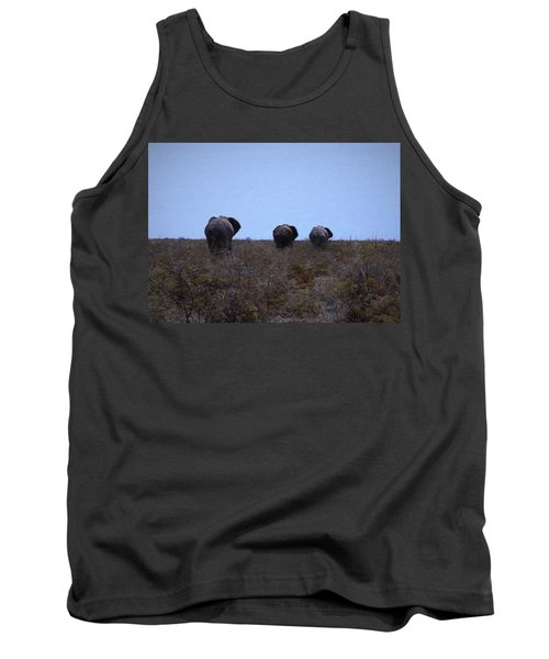 Tank Top featuring the digital art The End by Ernie Echols