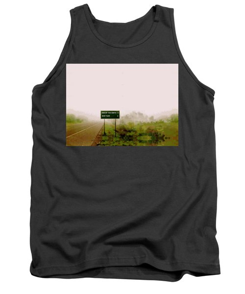 The End Of The Earth Tank Top by Sam Sidders