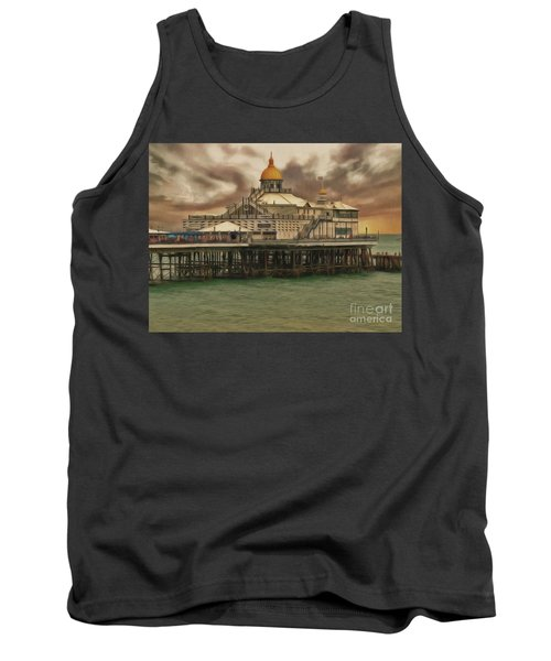 Tank Top featuring the photograph The End Of The Pier Show by Leigh Kemp