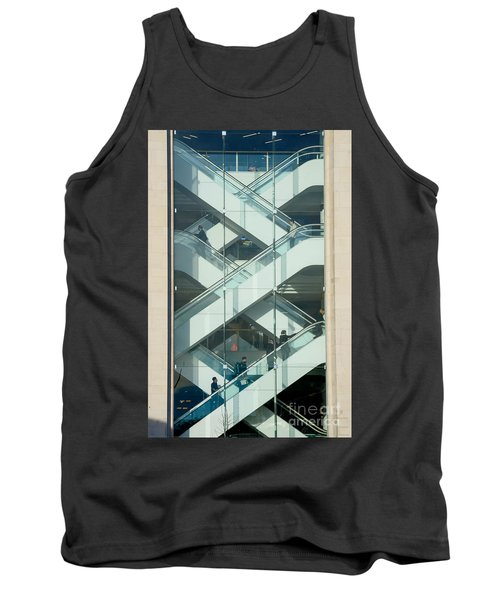Tank Top featuring the photograph The Escalators by Colin Rayner