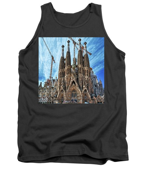 The Facade Of The Sagrada Familia Tank Top